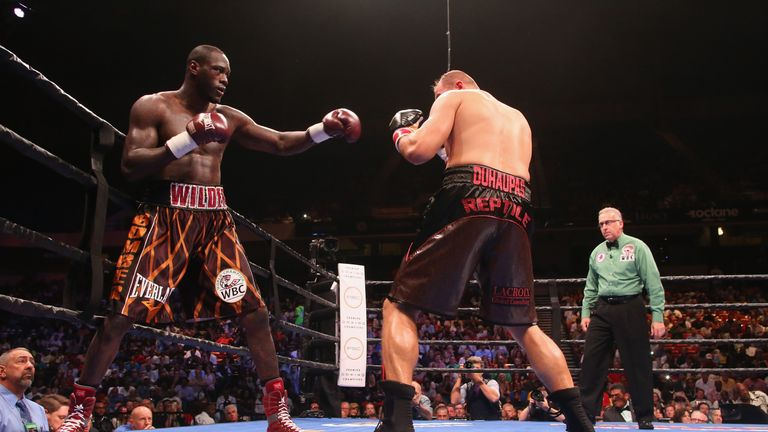 Deontay Wilder (left) is the first target for Tony Thompson