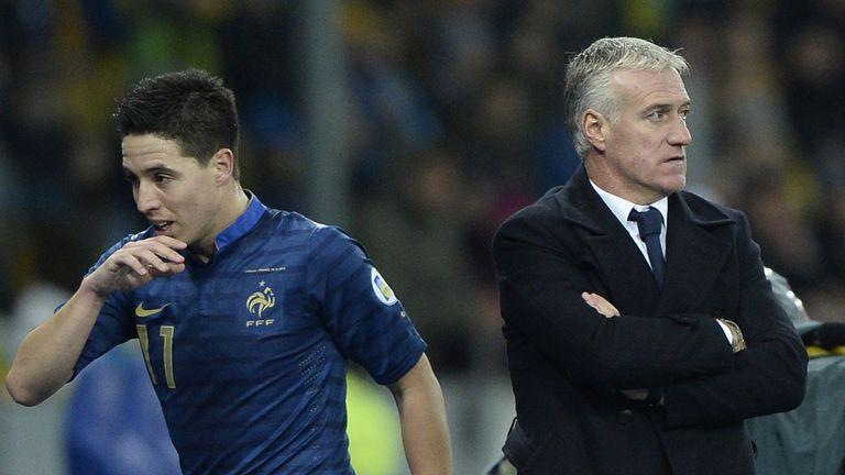 Samir Nasri and France head coach Didier Deschamps