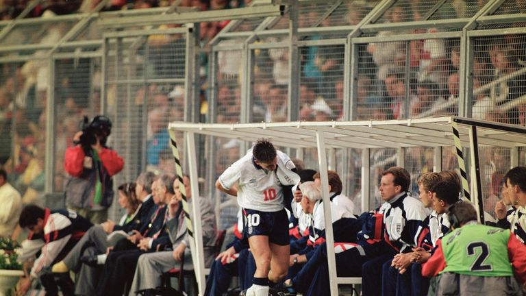 Gary Lineker was substituted during England's defeat to Sweden at Euro '92