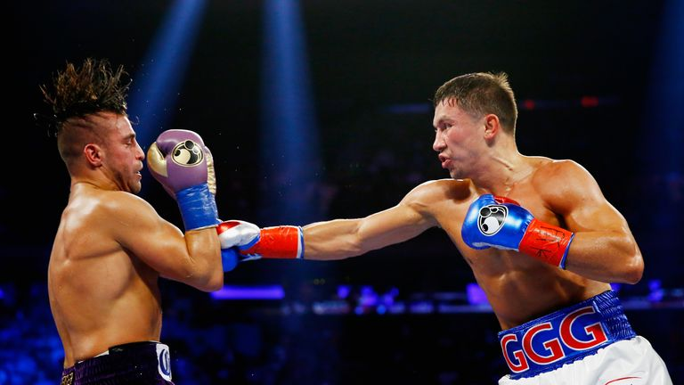 Golovkin KO'd David Lemieux (left) last time out