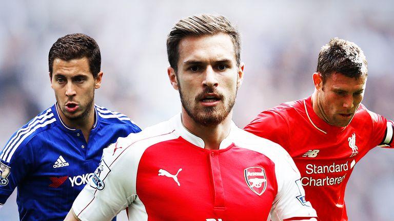 Eden Hazard, Aaron Ramsey and James Milner are among the top sprinters
