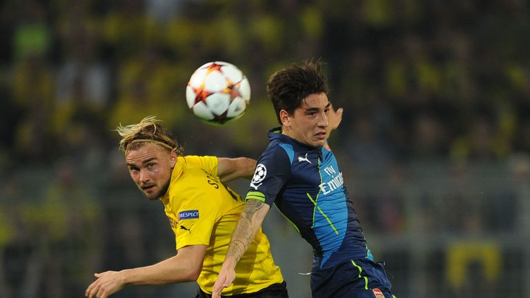 Bellerin endured a difficult full debut against Borussia Dortmund in the Champions League