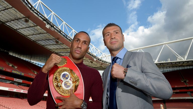 James DeGale (l) will get 'props' if he beats Lucian Bute (r)