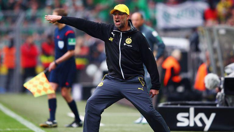Head coach Jurgen Klopp of Borussia Dortmund