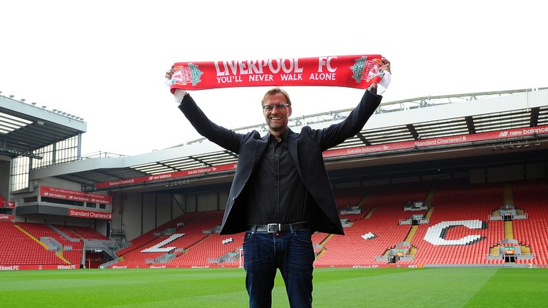 Jurgen Klopp new manager of Liverpool at Anfield