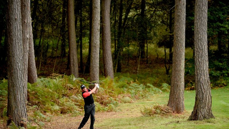 Shaping your shots out of the pines is a key element, as Lee Westwood found out