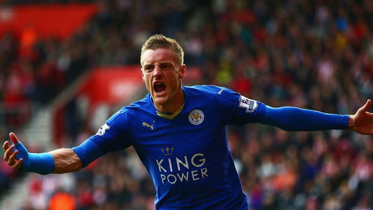 Jamie Vardy scored twice against Southampton in Leicester's last outing