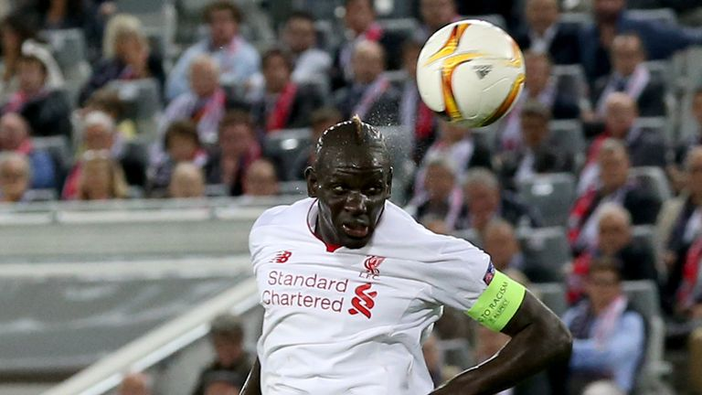 Liverpool centre-back Mamadou Sakho misses the Europa League game against Bordeaux with a knee problem