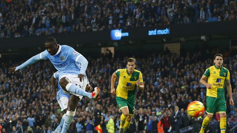 Yaya Toure puts City back in front from the penalty spot