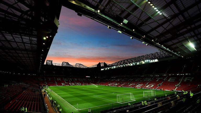MANCHESTER, ENGLAND - MARCH 09:  A general view of the stadium prior to kickoff during the FA Cup Quarter Final match between Manchester United and Arsenal