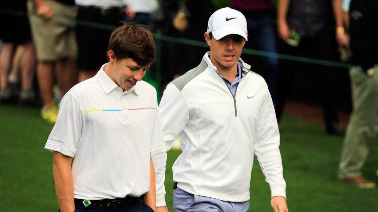 Fitzpatrick had caddie problems at the 2014 Masters, but that didn't stop him enjoying a practice round with Rory McIlroy