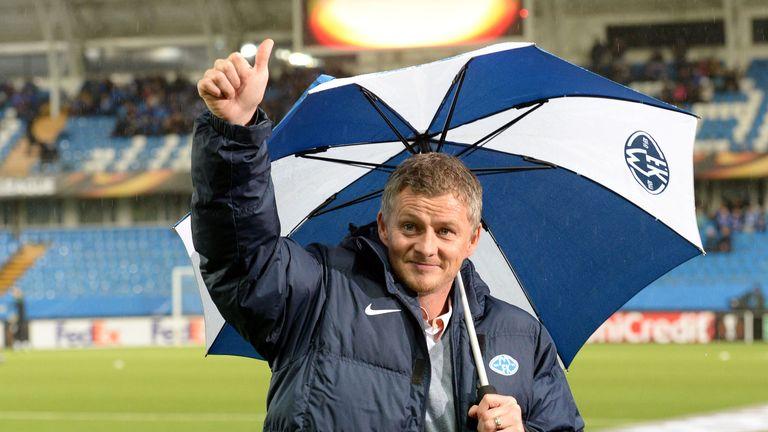 Ole Gunnar Solskjaer took over as Molde boss on Wednesday