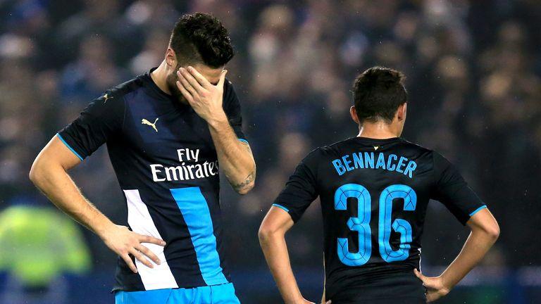 Olivier Giroud and Ismael Bennacer