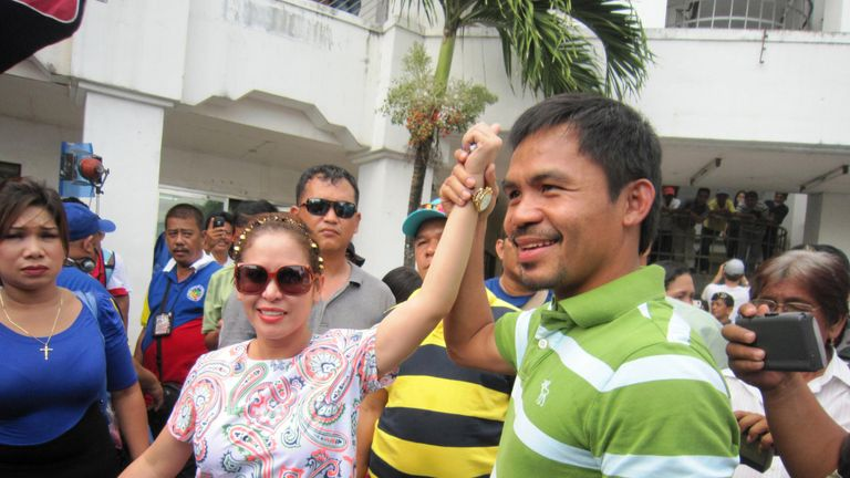 Manny Pacquaio and wife Jinkee are both in politicals