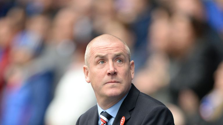 Rangers manager Mark Warburton on Ibrox touchline