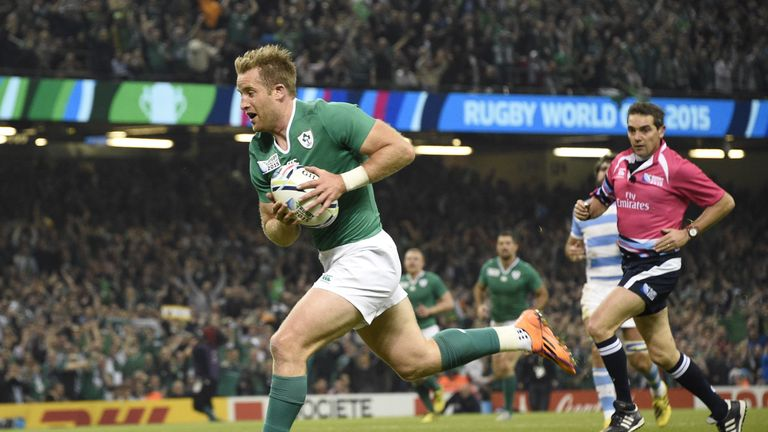 Luke Fitzgerald led the Ireland fightback, creating a try for Murphy as well as scoring his own