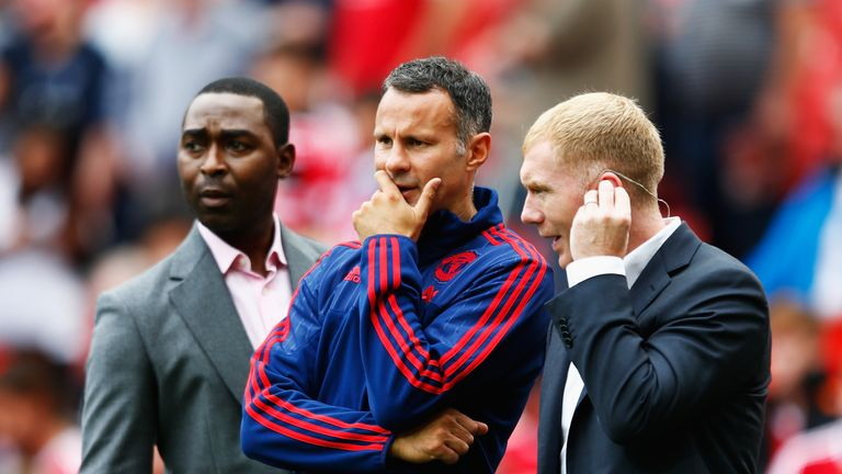 Ryan Giggs and Paul Scholes, Manchester United v Newcastle, August 2015