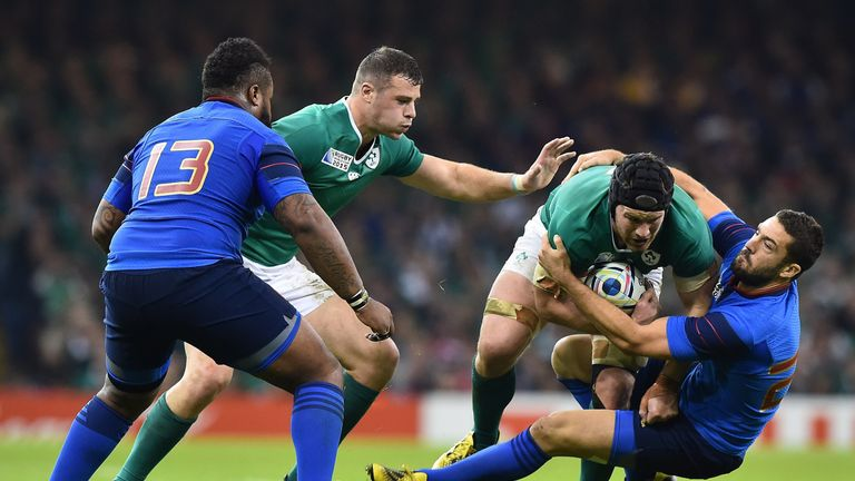 Sean O'Brien was superb for Ireland against France in the 2015 World Cup