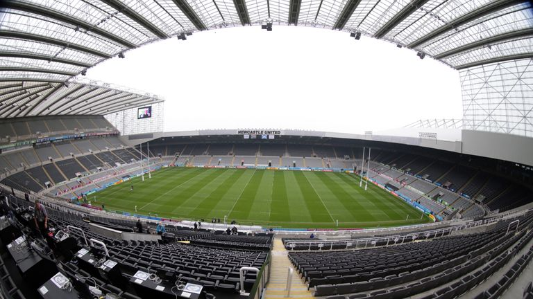 St James' Park, Newcastle, ahead of the Rugby World Cup 2015 Pool B match between South Africa and Scotland