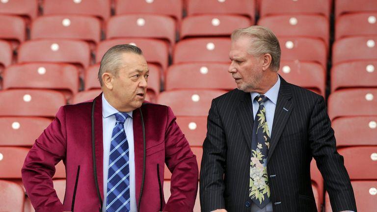 West Ham co-owners David Sullivan and David Gold