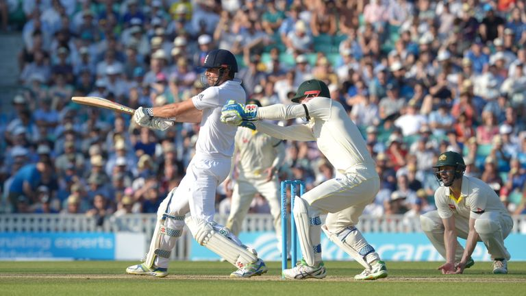 England captain Alastair Cook bats against Australia in this summer's Ashes