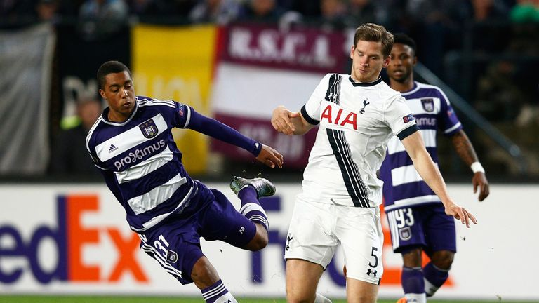 Tielemans featured against Spurs in the UEFA Europa League in October