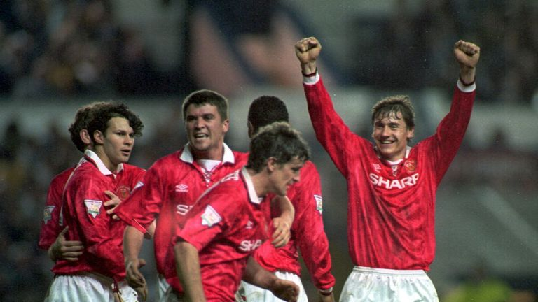 Andrei Kanchelskis played with current Manchester United assistant manager Ryan Giggs (far left)