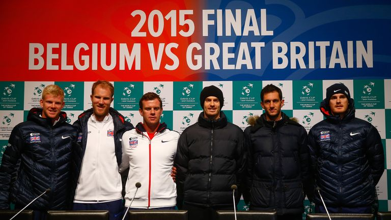 The Great Britain team ready to take on Belgium on clay