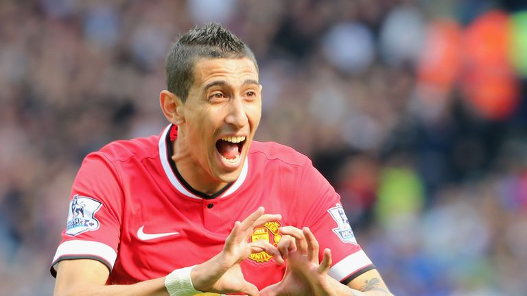 Angel di Maria won United's player of the month prize in September 2014