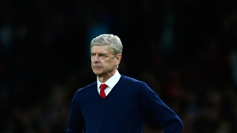 Arsene Wenger looks on during the Barclays Premier League match between Arsenal and Tottenham Hotspur