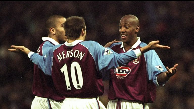 Sky Sports' Paul Merson was part of the Aston Villa squad who fell from top to sixth in 1998-99
