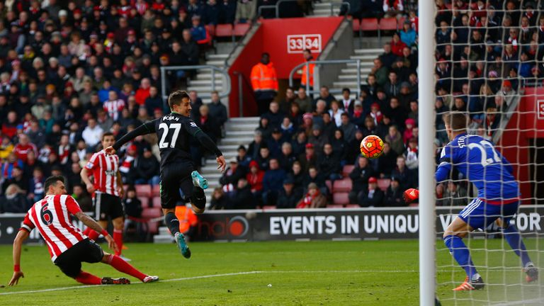 Bojan Krkic gives Stoke City the lead against Southampton