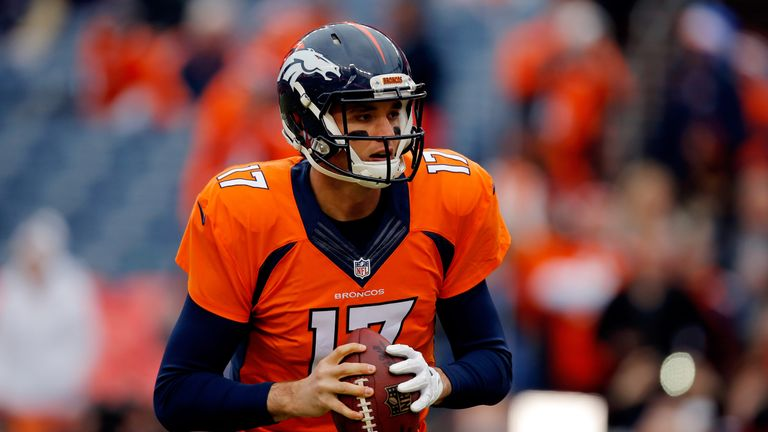 Brock Osweiler is getting the chance to start for the Denver Broncos