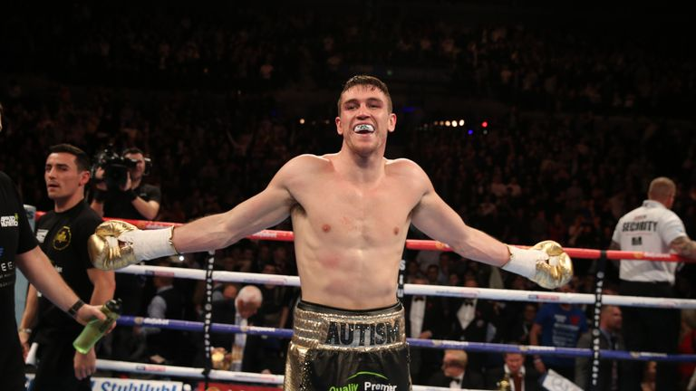 Callum Smith was left celebrating a stunning victory