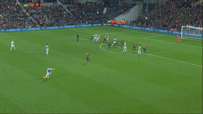 Jonas Olsson was not flagged offside from a Chris Brunt free-kick.