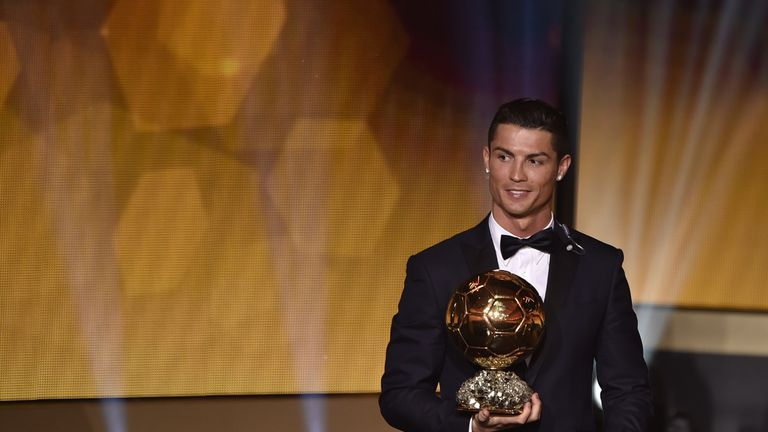 Real Madrid Cristiano Ronaldo has won the last two Ballon d'Or prizes