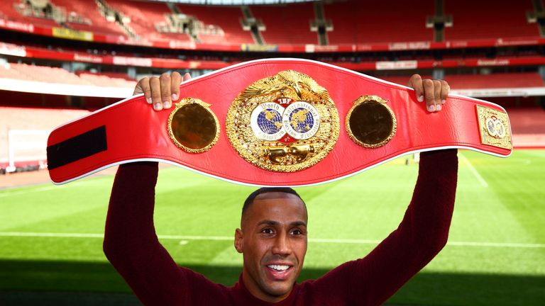 James DeGale with his championship belt