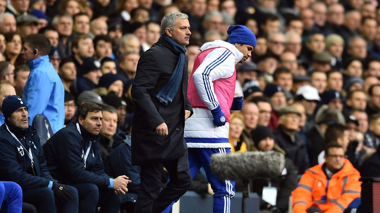 Costa clashed with Mourinho at White Hart Lane after being dropped