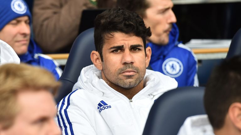 Diego Costa starts on the bench for Chelsea