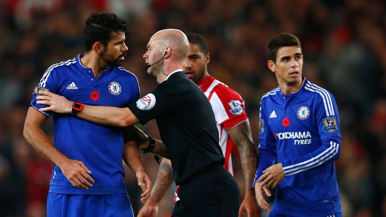 Costa has laid his frustrations bare on the pitch this season