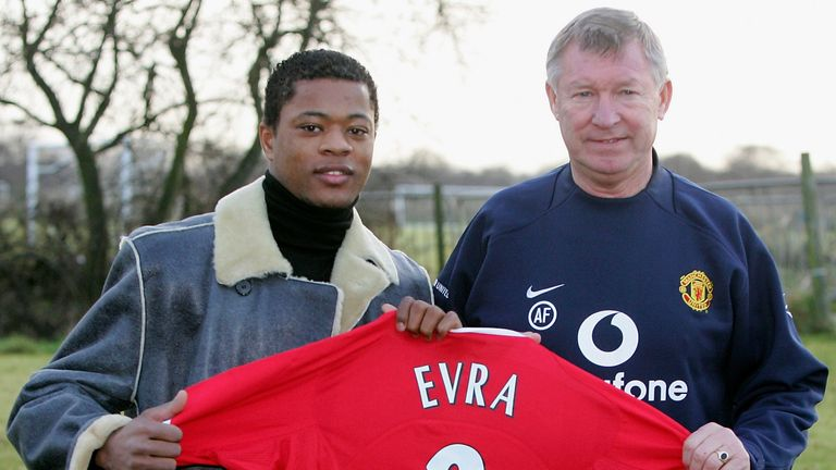 Patrice Evra was signed by Sir Alex Ferguson at Manchester United in 2006