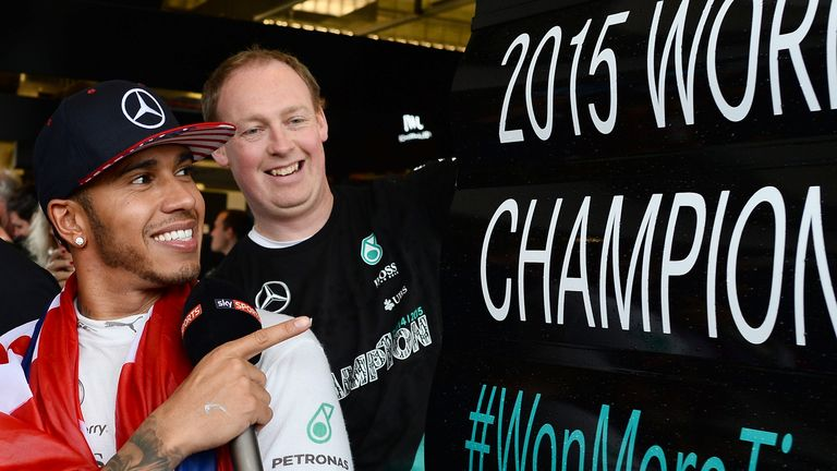 Thrice is nice: Hamilton became the first British driver to win the F1 World Championship in successive seasons - Picture by Patrik Lundin, Sutton Images
