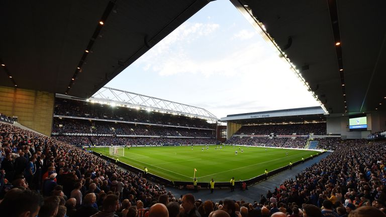 Rangers fans continued to turn out at Ibrox despite playing in the bottom tier of Scottish football.