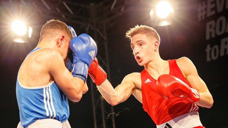 Jack Bateson (right) on the way victory in Sheffield at the British Championship