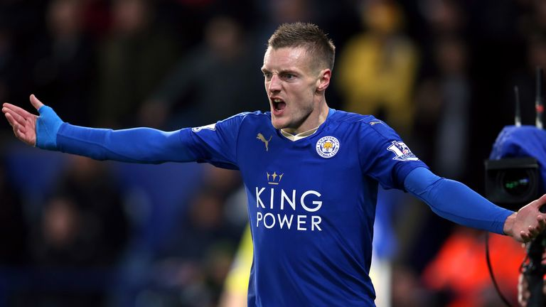 Vardy broke the goalscoring record in front of the Sky Sports cameras