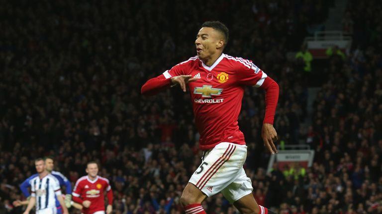 Jesse Lingard of Manchester United celebrates