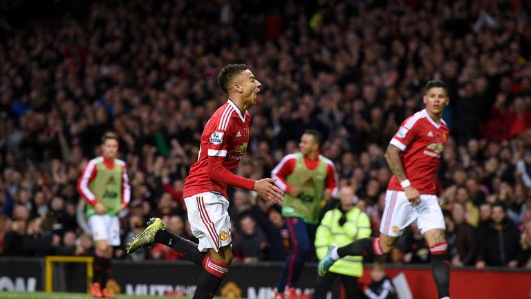 Lingard scored his first goal for Manchester United against West Brom