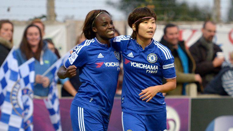 Chelsea duo Eni Aluko and Ji So-Yun