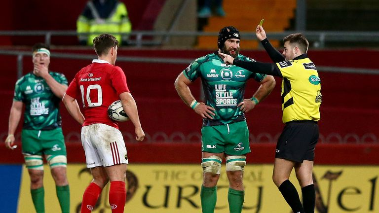 Referee Ben Whitehouse yellow cards John Muldoon