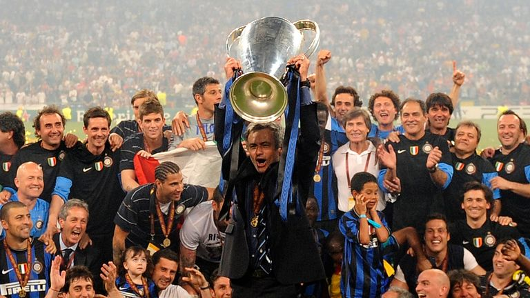 Mourinho won the treble with Inter Milan